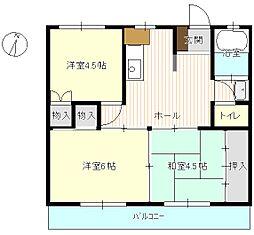 中村ビル[4階]の間取り