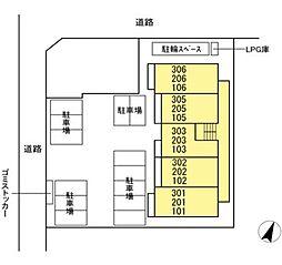 DL仮)D-ROOM石川 [新築D-ROOM・ネット無料][3階]の間取り