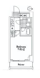 JR京葉線 潮見駅 徒歩5分の賃貸マンション 3階1Kの間取り