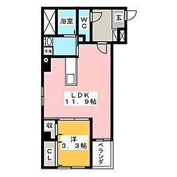 OTC田町マンション[4階]の間取り