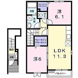 サンリット・スクエアA・B・C[2階]の間取り