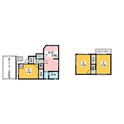 [一戸建] 愛知県一宮市今伊勢町馬寄字志水 の賃貸【/】の間取り