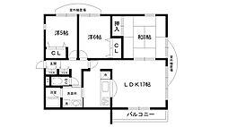 メゾンドール夙川台[304号室]の間取り
