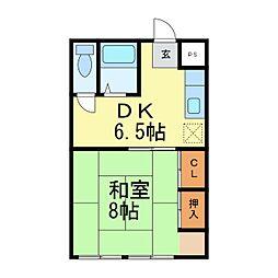 竹富士ビル[1階]の間取り