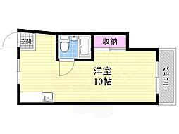 第3和田マンション 5階ワンルームの間取り