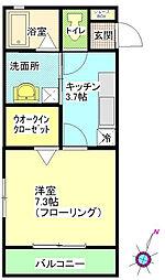 ローズガーデン弐番館[210号室]の間取り