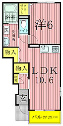 ラフィナートII[1階]の間取り