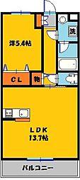 Y&M Lpur(ルピア)[1階]の間取り