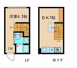 JR総武線 信濃町駅 徒歩5分の賃貸マンション 1階1DKの間取り