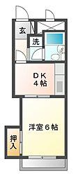 ハイツオーキタ庄内[7階]の間取り