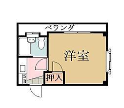 埼玉県草加市草加3の賃貸マンションの間取り