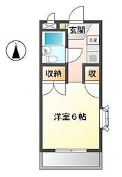 東京都小金井市本町5丁目の賃貸アパートの間取り