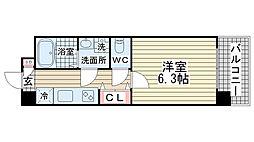 デコール神戸I[613号室]の間取り