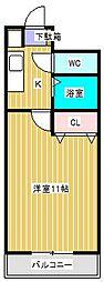 YUKON南柏[512号室]の間取り