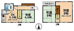 [一戸建] 東京都杉並区永福3丁目 の賃貸【東京都 / 杉並区】の間取り