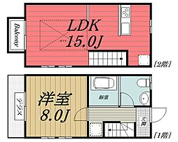 [テラスハウス] 千葉県千葉市若葉区貝塚町 の賃貸【/】の間取り