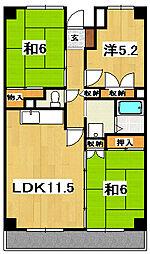 田尻マンション[301号室]の間取り