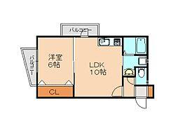 仮)志免中央新築マンション 1階1LDKの間取り