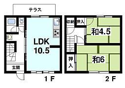 かじアパート[1階]の間取り