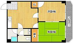 阪下ハウスマンション御崎B棟[5階]の間取り