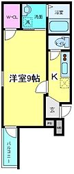 大阪府大阪市住吉区山之内3丁目の賃貸アパートの間取り