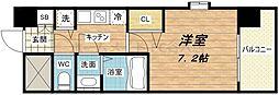 クラウンハイム北心斎橋フラワーコート[10階]の間取り
