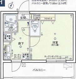 シンシア西大井[5階]の間取り