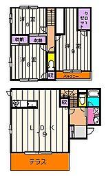 [一戸建] 神奈川県川崎市麻生区岡上 の賃貸【/】の間取り