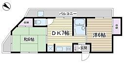 第3根岸ビル[402号室]の間取り