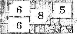 ハイムフロイデン一乗寺[D-8号室号室]の間取り