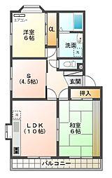 イーストグランドール B[2階]の間取り