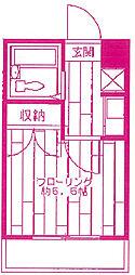 リエス中野島[4階]の間取り