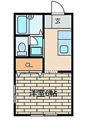 La mia casa 古淵[102号室]の間取り