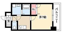 エスリード大須観音プリモ 3階1Kの間取り