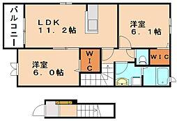 エス・スタイル II[2階]の間取り