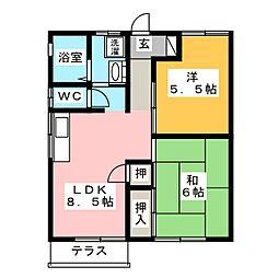コーポ後藤[1階]の間取り