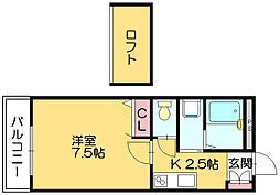 サンティール内橋3[2階]の間取り