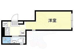 JR中央線 荻窪駅 徒歩10分の賃貸マンション 地下1階ワンルームの間取り