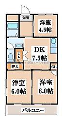 メゾン瓜生堂[3階]の間取り