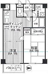 MSフォルム多摩川 bt[403kk号室]の間取り