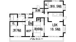 [一戸建] 兵庫県宝塚市逆瀬台4丁目 の賃貸【/】の間取り