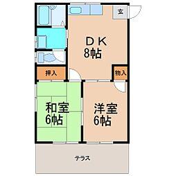グランデュール鎌倉[1階]の間取り