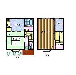 山田アパート[1号室]の間取り