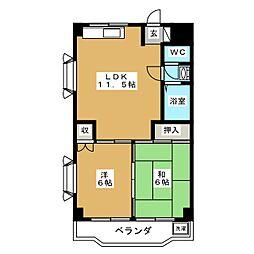 ハイツ緑ヶ丘[1階]の間取り