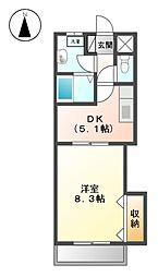 レジデンス黒龍[9階]の間取り