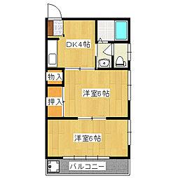 ハイコーポ飯田[2階]の間取り