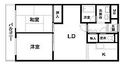 城南マンションII[208号室]の間取り