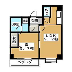 ホワイトクレステ[3階]の間取り