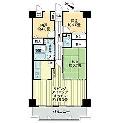 ライオンズマンション明石江井ケ島[5階]の間取り