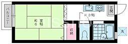 東京都練馬区中村北4丁目の賃貸アパートの間取り